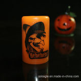 Свечка воска желтого цвета таможни СИД для украшения Halloween