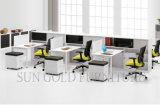 머리 위 서류 캐비넷 (SZ-WS617)를 가진 현대 Kd 사무실 4 사람 워크 스테이션