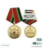 Medalla caliente del recuerdo del metal del oro de la venta de la muestra libre con la cinta