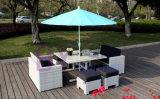 meubles extérieurs de trou de dessus de Tableau de parapluie de Tableau de loisirs du rotin by-449