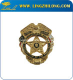 軍の保安官のランクのバッジの金属の翼のバッジ