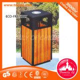 Scomparto residuo di vendita di immondizia della pattumiera di legno calda dello scomparto