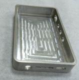 Cavidade de alumínio com o CNC que faz à máquina para a carcaça de uma comunicação