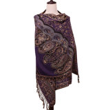 Шаль способа шарфа зимы повелительниц Pashmina обыкновенной толком картины цветка