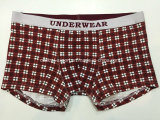 Allover Checks druckten Boxer-Kurzschluss-Unterwäsche der neuen Art-Männer