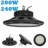 5 de Warranty anos de diodo emissor de luz High Bay Light 130lm/W IP65 Waterproof 200W 240W do UFO