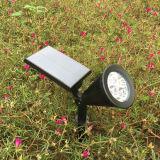 太陽エネルギーのスポットライトの屋外のスパイクの庭の芝生ライト4 LED防水機密保護ランプの景色ライト