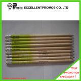 promotion 12PCS crayon en bois de couleur de 7 pouces réglé avec la règle, affûteuse, gomme à effacer dans le tube de papier (EP-P9077)