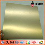 Panel compuesto IDEABOND Nuevo en relieve de aluminio plástica con Bar Patrón (Glod bar 013)