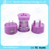휴대용 이중 USB 보편적인 여행 전력 접합기 (ZYF9006)