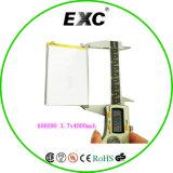 606090 3.7V 4000mAh Batterie kundenspezifische Zelle für Energien-Bank