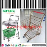 Carrinho de carrinho de compras de carrinho de cesta dupla
