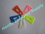 Atacado Triângulo Shape Assorted Colors Plastic Paper Paper Clip