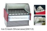 Congelador do indicador de Gelato com bandejas