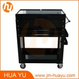 Due Drawers Black Steel Sliding Top Panels Tool Cabinet Service Cart in Garage e in Factory