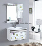 Роскошной установленный стеной шкаф ванной комнаты PVC/самомоднейшая тщета ванной комнаты