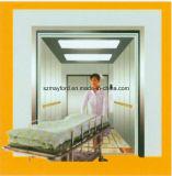 ミラーが付いている病院用ベッドのエレベーターか上昇はステンレス鋼をエッチングした
