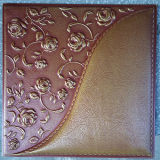 Панель стены PU роскоши 3D кожаный для украшения (HS-MK010)