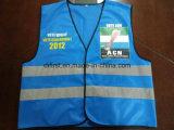 Colore blu della maglia di sicurezza con il marchio 100%Polyester della stampa