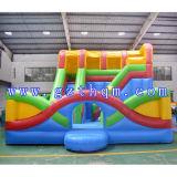 Corrediça inflável da combinação da base de acampamento/casa de salto inflável do salto