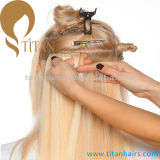 Extensão brasileira do cabelo humano de Remy da fita da cor do piano