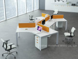 Open moderno Office Linear Workstation Table con Glass Divider (HF-YZM006)
