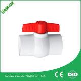 Robinet à tournant sphérique en plastique de PVC des syndicats de double des prix de la Chine pour la pression de l'eau et de gaz dans la soupape Fctory d'Oujia
