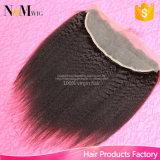 Fermeture brésilienne de frontal de lacet d'accessoires de cheveux humains de type de pouces de la densité 13X4 de 130%