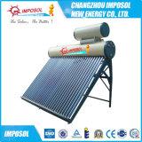 Compacta sin presión del tubo de vacío Calentador solar de agua con tanque auxiliar