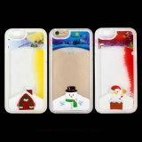 クリスマスサンタクロースかiPhone 5/6/6plusのためのスノーマンの流砂の携帯電話の箱