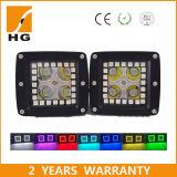 boucle tous terrains de halo de guide optique du CREE 4X4 RVB de barre d'éclairage LED de la couleur 42inch