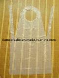 Grembiule bianco a gettare di plastica del PE dell'HDPE 8.5g