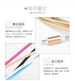 La cuerda de 8 del Pin del relámpago del USB datos del cable del nilón aisló