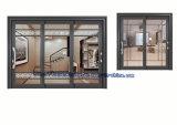 Porte coulissante en aluminium grise enduite de Matt de poudre avec des grils de décoration
