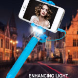 Super Mini Draagbare Monopod met Flitslicht voor Selfie