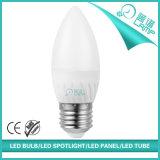 220V luz da vela do diodo emissor de luz da listra E27 5W