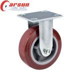 Hochleistungsfußrolle des schwenker-4inches mit PU-Rad-und Seiten-Bremse