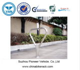Steel inoxidável Bollards com Bike Rack