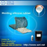 Caoutchouc de silicones pour les moulages concrets