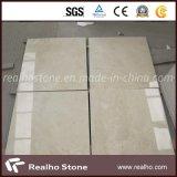 Backing Porcelain/Ceramicのクリーム色Marfil/Berccia Sarda Marble Composite Stone Flooring Tile