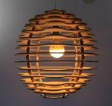 Lámpara pendiente de la rota de madera de bambú (HMF021)