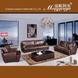 Il Regno Unito Sofà moderno del cuoio genuino della mobilia del salone (1008#)