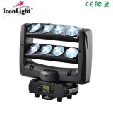 8 * 8W Cool White LED Moving Head Spider podium in het licht