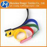 Gancho de leva y atadura de cables coloreados reutilizables modificados para requisitos particulares del bucle