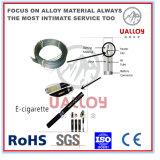 高品質0cr21al6の螺線形の暖房抵抗平らなワイヤー