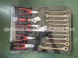 Populärer Aluminiumwerkzeugkasten 186PC mit Schlüsseln der Schaltklinken-10PC