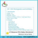 12V 1.2ah VRLAは鉛の酸Mf SLA電池を密封した