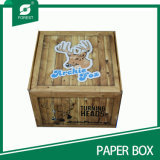 Boîte de empaquetage imprimée de cerfs communs de vente en gros adaptée aux besoins du client nouveau par modèle de papier ondulé