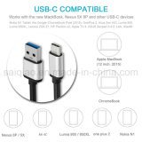 [Sq-75] USB 3.1 Type C Male aan Type een USB 3.0 Male Cable 3.3 voet Nylon Braided, USB C Reversible Data Charger Cable voor Google Nexus en Other type-C Devices