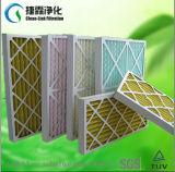 De fibra sintética del papel del marco filtro de aire disponible pre